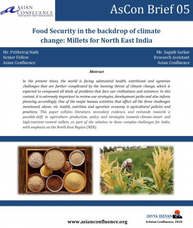 Food Security in the backdrop of climate change: Millets for North East India
