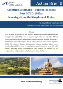 Creating Sustainable Tourism  Practices  Post COVID-19 Era: Learnings from the Kingdom of Bhutan