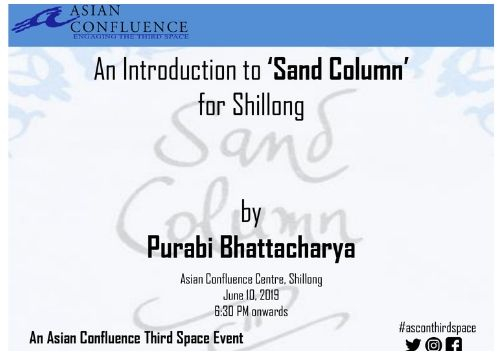 An Introduction to 'Sand Column' for Shillong: Book Discussion