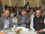 (L-R): Mr. River Wallang, IFS (Retd.), Mr. Rudi Warjri, IFS (Retd.) and Mr. Sabyasachi Dutta, Executive Director, Asian Confluence participating in the Dialogue