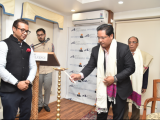 Shri. Conrad Sangma, Hon'ble Chief Minister, Meghalaya performing the ceremonial lighting of lamp to inaugurate The Shillong Dialogue: Distinguished Panel (Theme: Visions for a Connected and Prosperous Region)