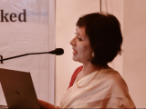 Ms. Jahnabi Phookan, Director, Assam Bengal Navigation Company Pvt. Ltd. delivering her address